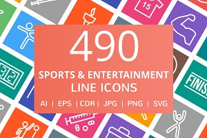 490 Sports & Entertainment Line Icon