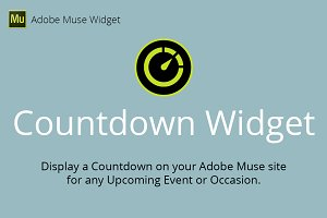 Countdown Adobe Muse Widget