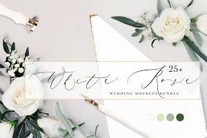 WHITE ROSE. WEDDING MOCKUPS BUNDLE.