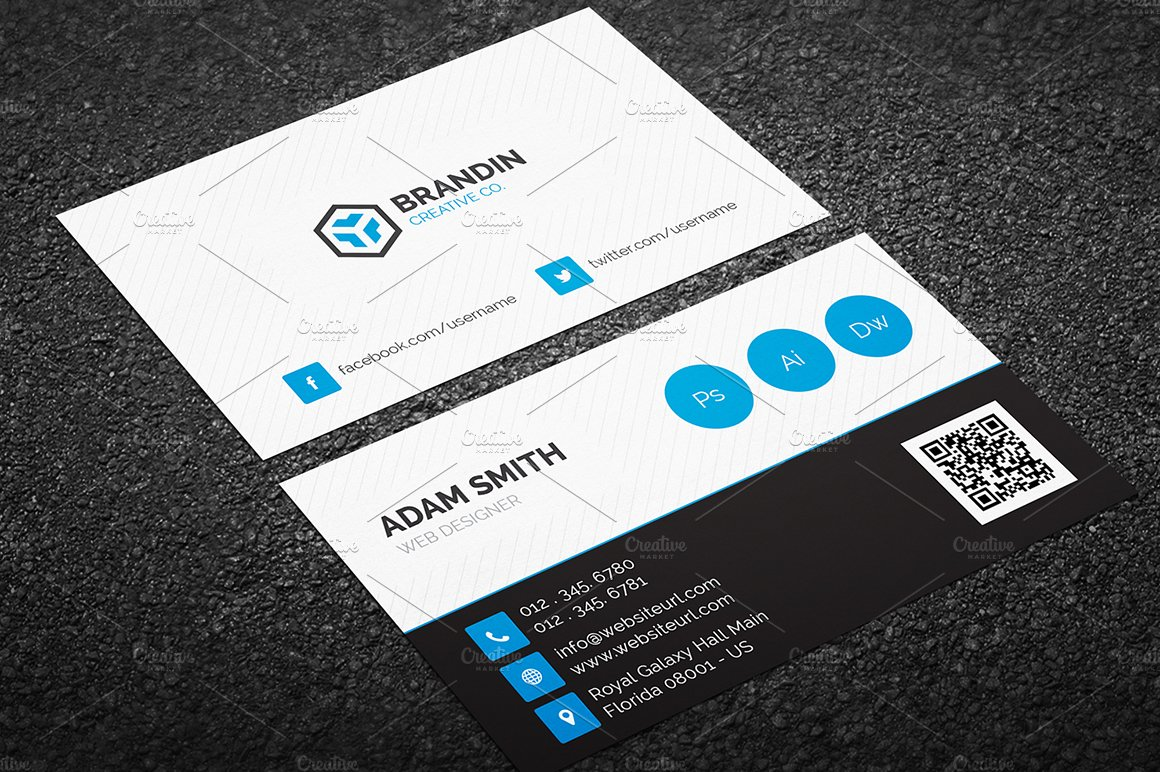 Modern Business Card Template ~ Business Card Templates ~ Creative ...