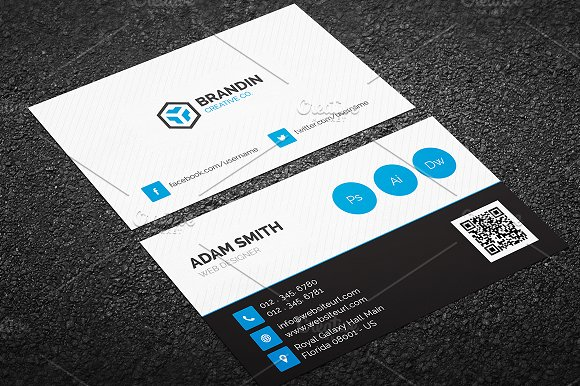 Modern business card template business card templates creative modern business card template business cards pronofoot35fo Image collections