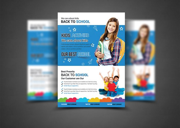 Education Flyer Print Templates Flyer Templates Creative Market