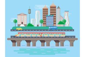 Urban city landscape concept