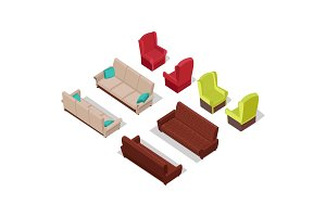 Set of Furniture Vectors in