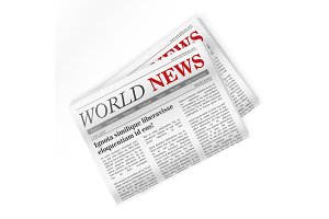 Newspaper. World news.