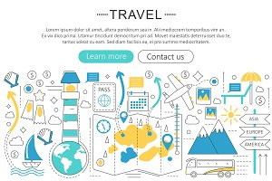 Vector travel, travelling concept