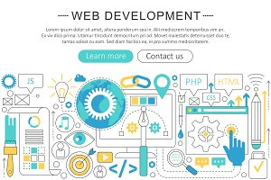 Vector web development concept.