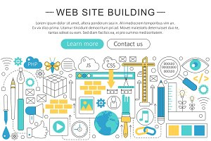 Vector website building concept.