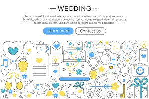 Vector wedding concept.