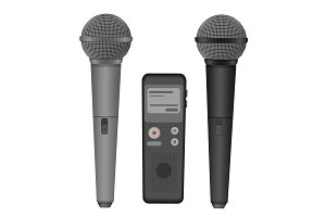 Microphone dictaphone equipment