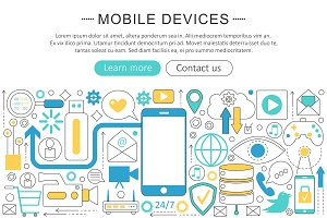 Mobile devices, gadgets concept