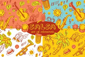 Salsa pattern and 3 templates