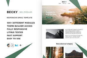 Becky – 100+ Modules Email template