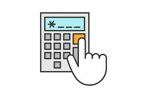 Calculator color icon