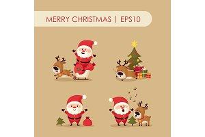 Santa Claus with deer