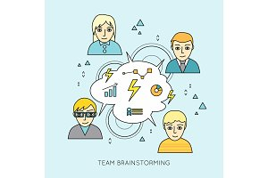 Team Brainstorming Concept