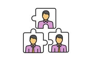 Teamwork color icon