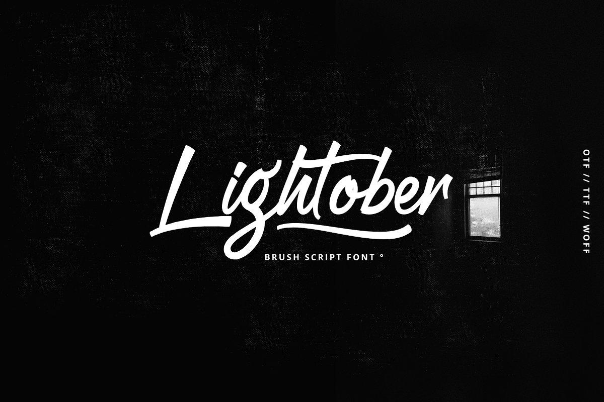Lightober font ~ Script Fonts ~ Creative Market