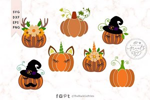 Pumpkin clipart bundle SVG DXF EPS