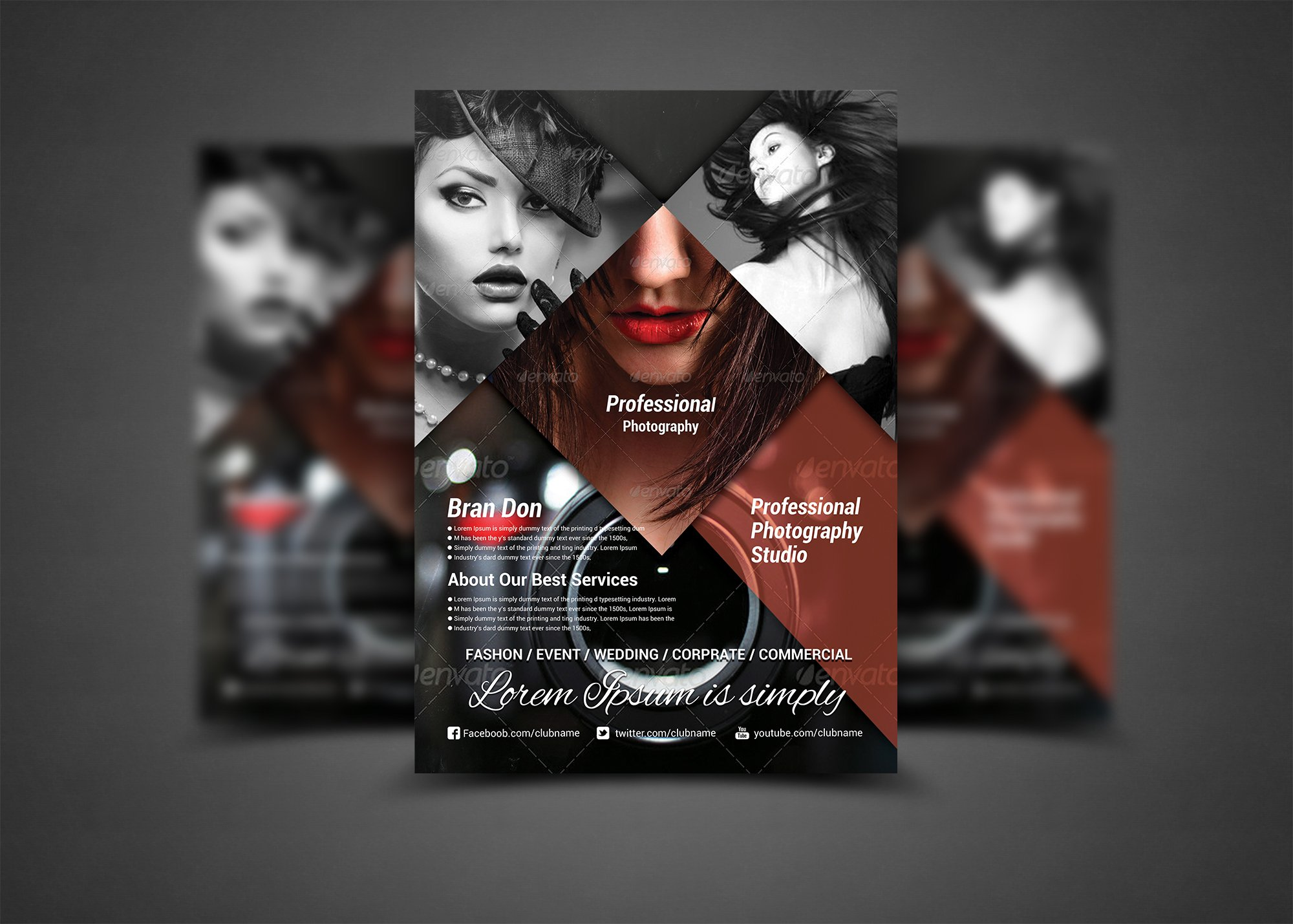 Fashion magazine psd template free download