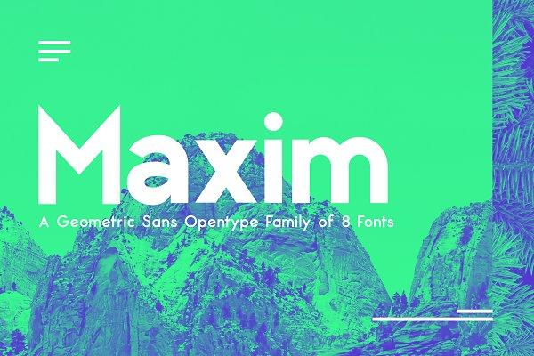 Sans Serif Fonts - Maxima Sans Serif Font