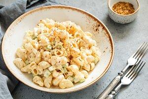 Dinner dish a pasta salad