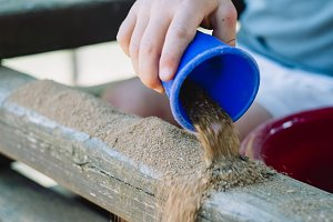 sandbox kid creative outdoor play
