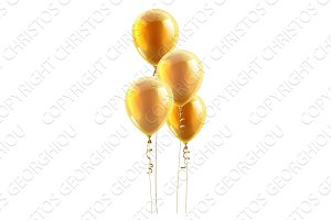 Gold Party Balloons Graphic