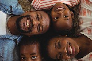 Portrait of happy parents and kids