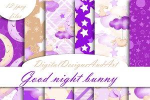 Good night bunny paper