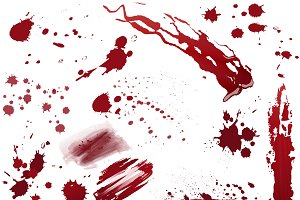 Realistic blood or paint splatters