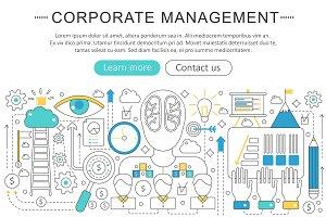 Corporate managment concept.