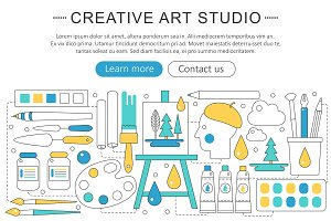 Creative painter studio concept.