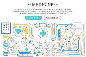 Vector Healthcare medicine concept