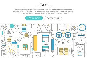 Tax, pay taxes vector concept.