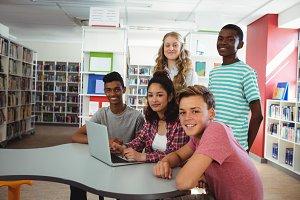 Portrait of confident students