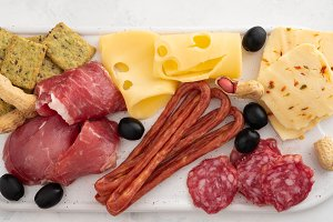 Cured meat platter of traditional