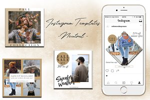 Instagram Templates -  Neutral