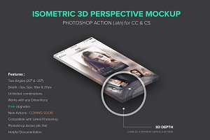 Isometric 3D Perspective Mockup .atn