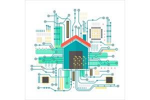 Vector smart home concept