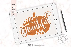 Thankful pumpkin SVG DXF EPS PNG