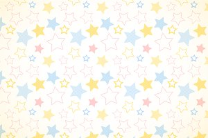 Simple stripe stars on white pattern