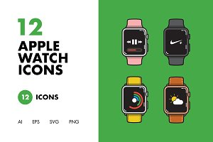 12 Apple Watch Icons