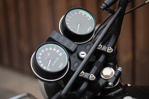 Motorcycle dash display instruments