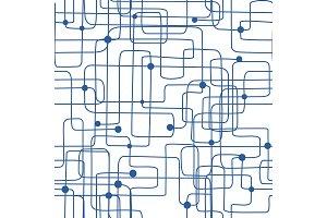 Scribbles seamless pattern