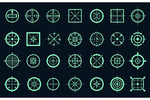 Game target cross icons