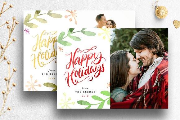 christmas card photoshop template 09 cards - Christmas Card Templates For Photographers