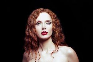 Portrait of sexy redhead girl
