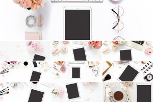 iPad Pink Collection Book Mockups