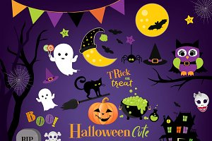 Cute halloween clipart boo party